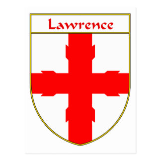 Lawrence Coat of Arms/Family Crest Postcard