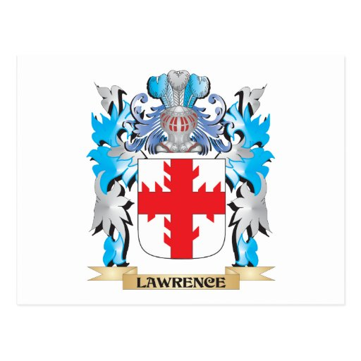 Lawrence Coat of Arms - Family Crest Postcards
