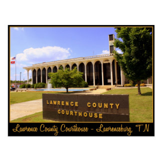 Lawrence County Courthouse - Lawrenceburg, TN Postcard