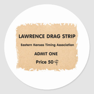 Lawrence Drag Strip Classic Round Sticker