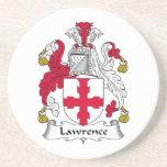 Lawrence Family Crest Beverage Coaster