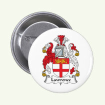Lawrence Family Crest Button