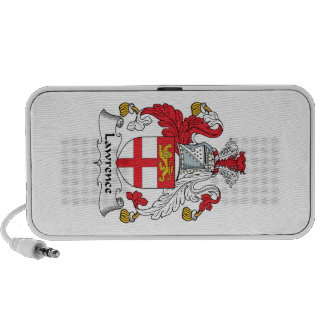 Lawrence Family Crest iPod Speaker