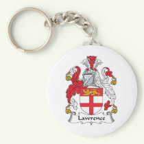 Lawrence Family Crest Keychain