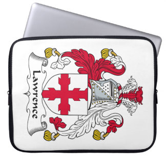 Lawrence Family Crest Laptop Computer Sleeve
