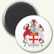 Lawrence Family Crest Magnet