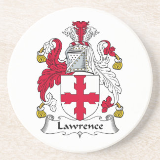 Lawrence Family Crest Sandstone Coaster