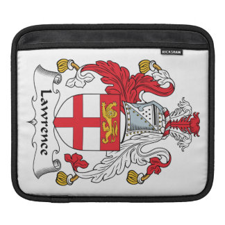 Lawrence Family Crest Sleeves For iPads