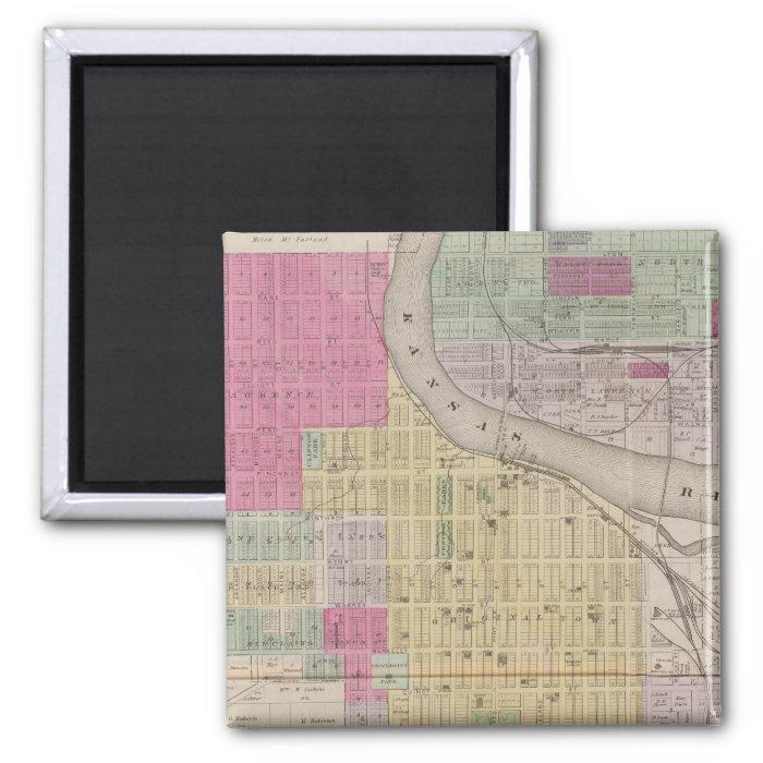 Lawrence, Kansas 2 Inch Square Magnet