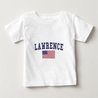 Lawrence KS US Flag Baby T-Shirt