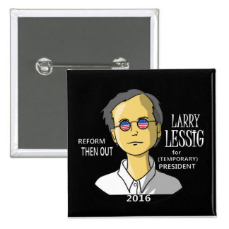 Lawrence Lessig in 2016 Button
