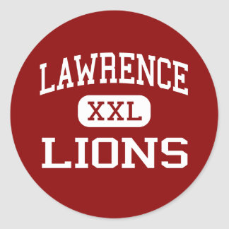 Lawrence - Lions - High School - Lawrence Kansas Round Stickers