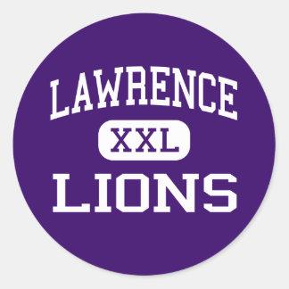 Lawrence - Lions - Junior - Las Vegas Nevada Round Stickers