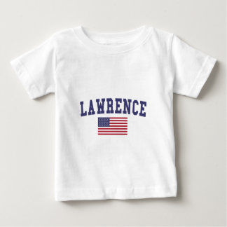 Lawrence MA US Flag Baby T-Shirt