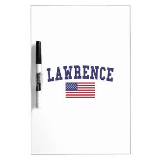 Lawrence MA US Flag Dry-Erase Board