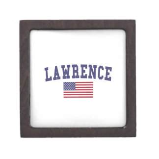 Lawrence MA US Flag Jewelry Box