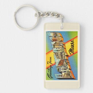 Lawrence Massachusetts MA Vintage Travel Souvenir Keychain