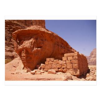Lawrence of Arabia's House in Wadi Rum Postcard
