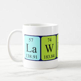 Lawrence periodic table name mug