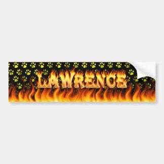 Lawrence real fire and flames bumper sticker desig car bumper sticker