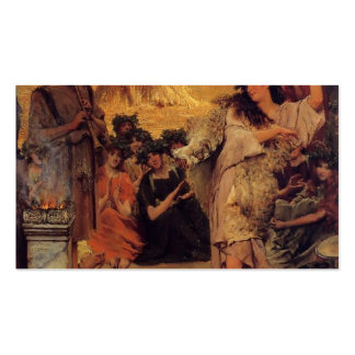 Lawrence Tadema:A Harvest Festival Double-Sided Standard Business Cards (Pack Of 100)