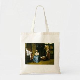 Lawrence Tadema- Birth Chamber Seventeenth Century Tote Bags