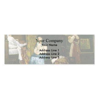 Lawrence Tadema- Birth Chamber,Seventeenth Century Double-Sided Mini Business Cards (Pack Of 20)