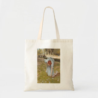 Lawrence Tadema:Flora Spring in the Gardens Tote Bag