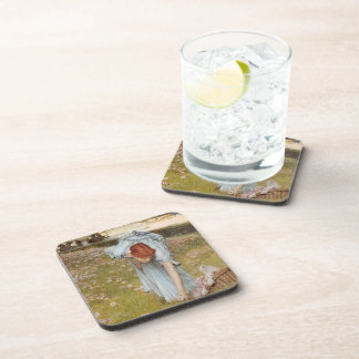 Lawrence Tadema:Flora Spring in the Gardens Beverage Coasters