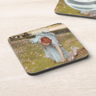 Lawrence Tadema:Flora Spring in the Gardens Coasters
