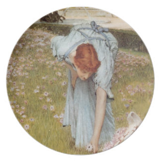 Lawrence Tadema:Flora Spring in the Gardens Plate