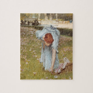 Lawrence Tadema:Flora Spring in the Gardens Jigsaw Puzzles