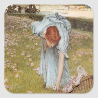 Lawrence Tadema:Flora Spring in the Gardens Stickers