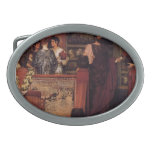 Lawrence Tadema- Hadrian Visiting British Pottery Oval Belt Buckles