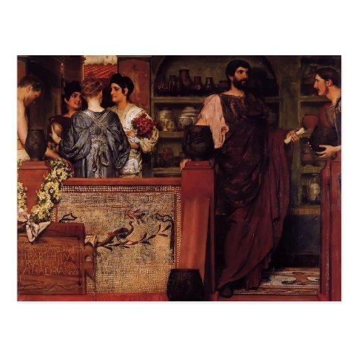 Lawrence Tadema- Hadrian Visiting British Pottery Post Cards