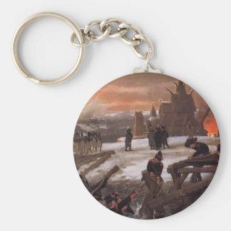 Lawrence Tadema-The Crossing of the River Berizina Key Chain