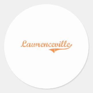 Lawrenceville Illinois Classic Design Classic Round Sticker