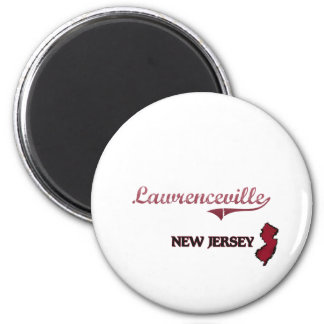 Lawrenceville New Jersey City Classic 2 Inch Round Magnet