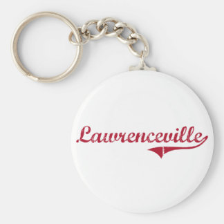 Lawrenceville New Jersey Classic Design Basic Round Button Keychain