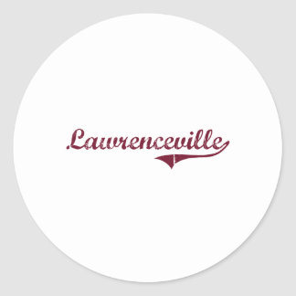 Lawrenceville Virginia Classic Design Classic Round Sticker