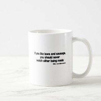 Laws and Sausage quote Mug