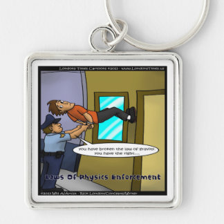 Laws Of Physics & Gravity Funny Gifts & Tees Keychain