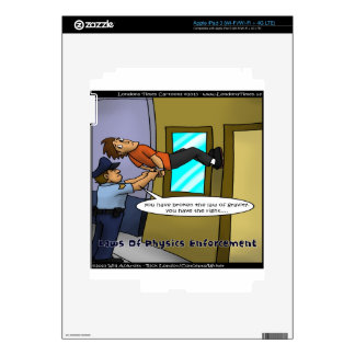 Laws Of Physics & Gravity Funny Gifts & Tees Skin For iPad 3