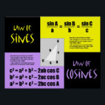 "Laws of Sines and Cosines Poster<br><div class=""desc"">Put the Laws of Sines and Cosines on your classroom wall! Great for Precalculus and Trigonometry classes!</div>"