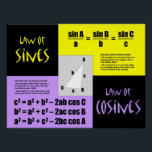 """Laws of Sines and Cosines Poster<br><div class=""""desc"""">Put the Laws of Sines and Cosines on your classroom wall! Great for Precalculus and Trigonometry classes!</div>"""