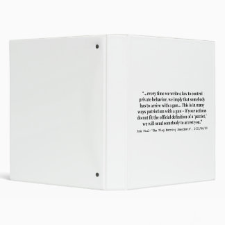 Laws That Control Private Behavior Quote Ron Paul 3 Ring Binder