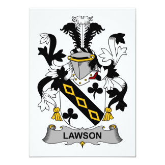 Lawson Family Crest Card