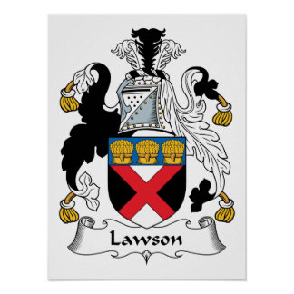 Lawson Family Crest Posters