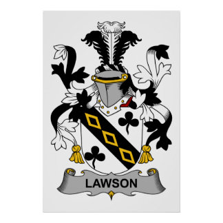 Lawson Family Crest Print