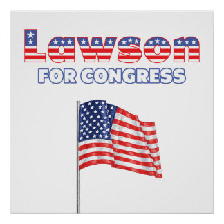 Lawson for Congress Patriotic American Flag Posters